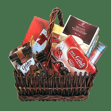 Корзина с конфетами