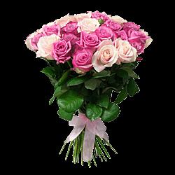 Розовые и сиреневые розы