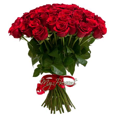 Букет из красных роз (60 см)