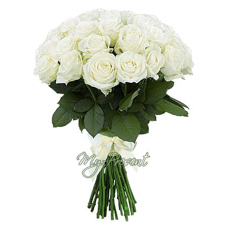 Букет из белых роз (80 см) в Ростове-на-Дону