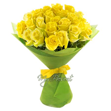 Букет из желтых роз (80 см)