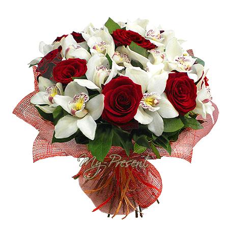 Букет из роз и орхидей в Ташкенте