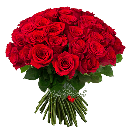 Букет из красных роз (50 см) в Краснодаре