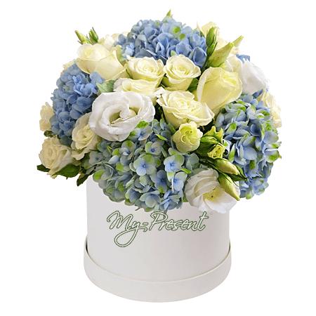 Цветы в шляпной коробке в Минске