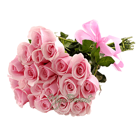 Букет из розовых роз (80 см.)