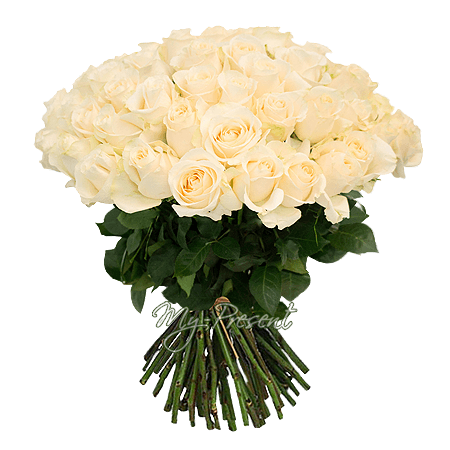 Букет из белых роз (50 см) в Омске